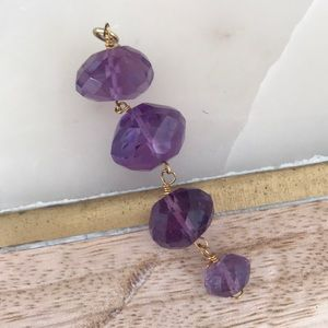 Jewelry - Handmade faceted amethyst drop pendant